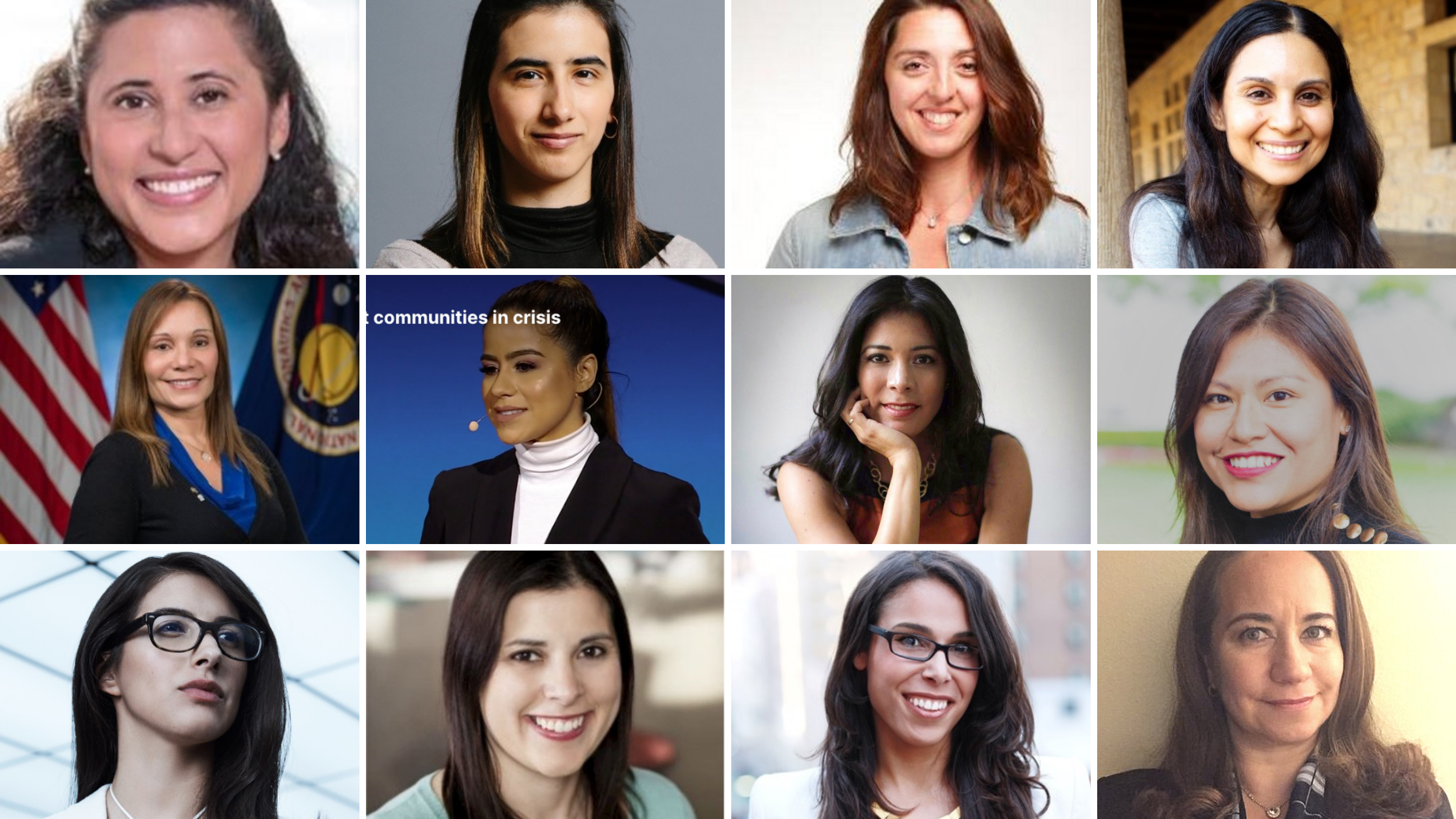12 Latinas Leading in Tech Collage