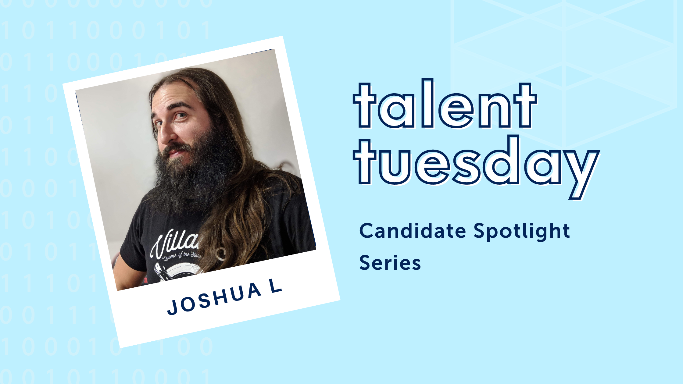 talent tuesday text with photo of joshua luppes