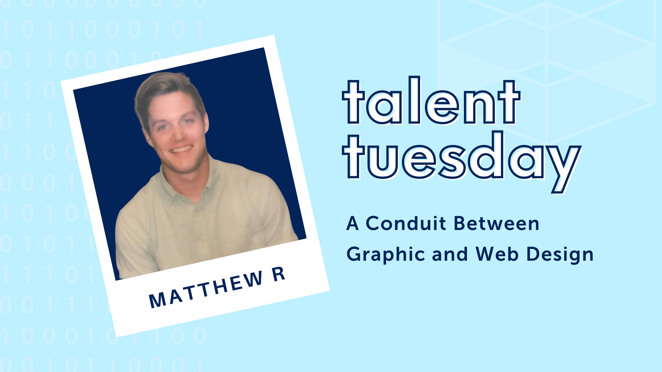talent tuesday text with a photo of Matthew Rorvick