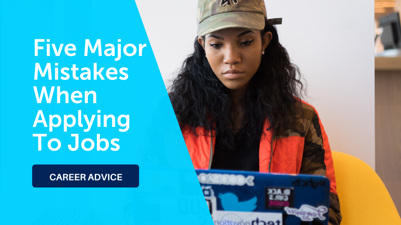 Career Advice: Five mistakes when applying to jobs - woman on computer